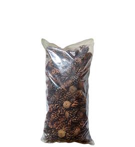 Шишки сосновые в мешках 20 литров